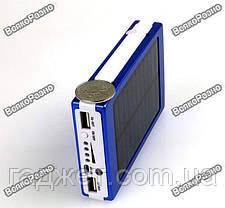 Solar power bank 30000 mAh,зарядка на солнечной батареи синего цвета, фото 3