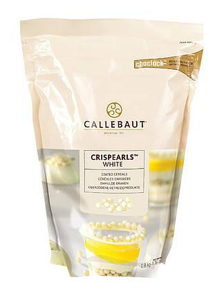 Callebaut White Chocolate Crispearls Шоколадні драже з білого шоколаду Пакет 0,8 кг., фото 2