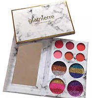 Палитра теней и глиттеров Glamierre Rainbow your eyes Glitter and matte