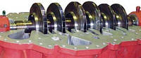 Ремонт ротора с заменой полумуфты,упорного диска,уплотнительных гребней,шлифовкой шеек