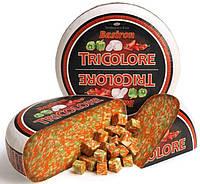 Сыр BASIRON  Tricolore  Триколор: козье молоко, свежий красный и  зеленый перец