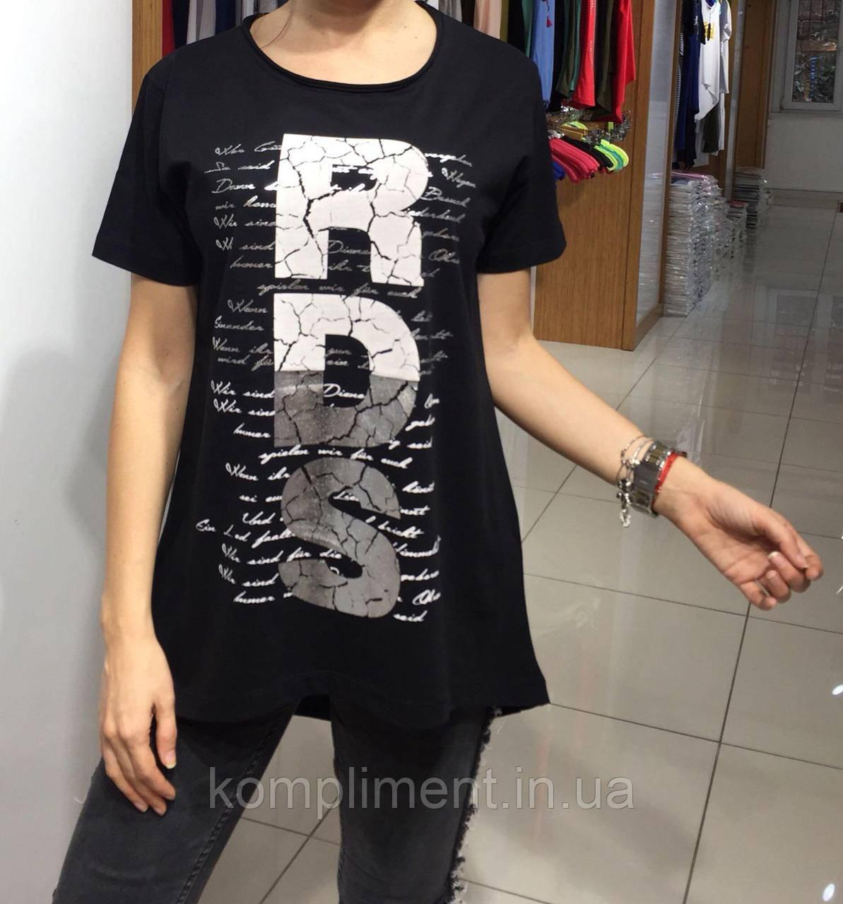 Летняя женская турецкая футболка-туника RDS