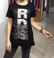 Летняя женская турецкая футболка-туника RDS, фото 1