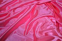 Стрейч-сатин ярко-розовый USA