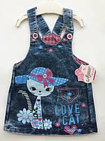 Сарафан джинс на девочку 1-4 года, фото 1