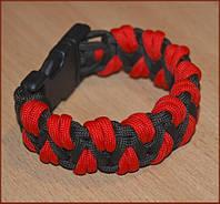 Паракордовый браслет выживания Красный Дракон Код: 653649986