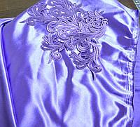 Стрейч-сатин фиолет USA