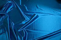 Стрейч-сатин насыщенно-голубой USA