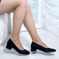 Туфли женские замшевые на низком каблуке, фото 1
