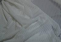 Велюр полоска-сетка белый USA