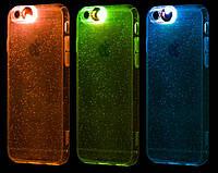 Прозрачный светящийся чехол Hoco Colorful для iPhone 6+/6S Plus, фото 1