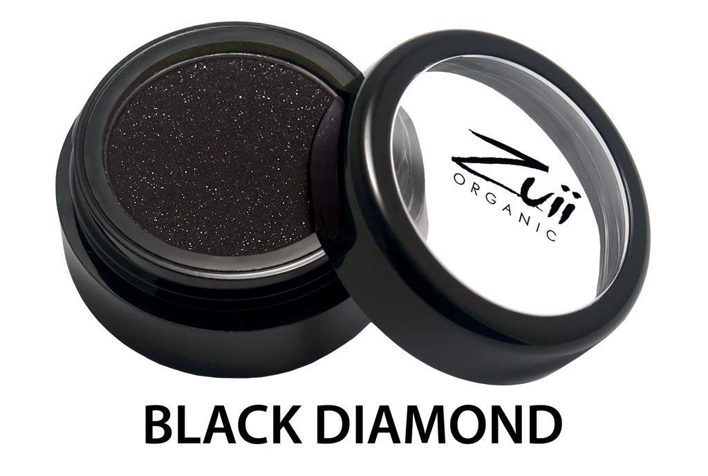 Тени органические для век Black Diamond / Черный Бриллиант 1,5 г Zuii Organic