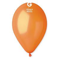 """Воздушный шар металлик оранжевый 10"""" (25 см) Gemar"""