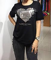 Летняя женская турецкая футболка, полубатальчик, фото 1