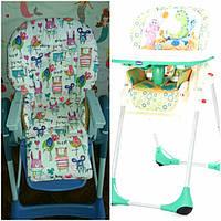 Односторонние чехлы на детские стульчики Chicco Pilly