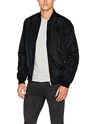 Демисезонная куртка бомбер черногоцвета Jarib от !Solid (Дания) в размере L