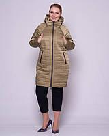 Женская стеганая куртка с рукавом летучая мышка 48-56р оливка