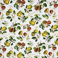 Ткань для скатерти рогожка Груши