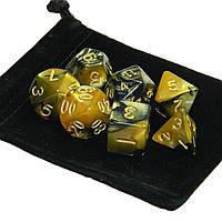 7 шт.Polyhedral Кости Set Multisided Кости С Кости Сумка RPG Ролевые игры Gadget