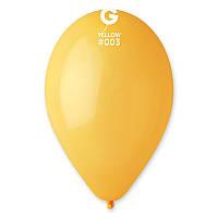 """Воздушный шар пастель желтый 12"""" (30 см) Gemar"""