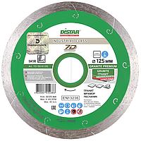 Круг алмазный Distar 1A1R Granite Premium 125 мм сплошной отрезной диск по граниту и керамограниту, Дистар