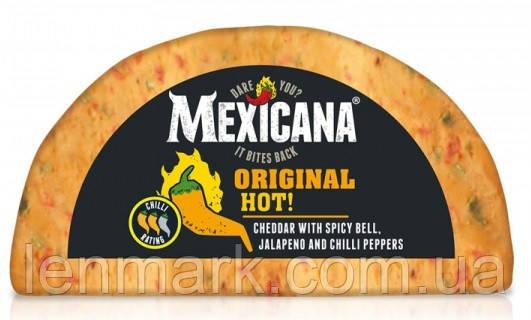 Сыр Чеддер Ilchester British Cheese Mexicana Original Hot с  халапеньйо, чили и острой паприкой