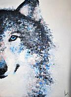 """Картина ручной работы маслом """"Стилизированый волк"""""""