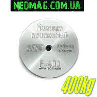 Односторонний поисковый магнит F400, ✐отрыв 400кг, ✐РЕДМАГ ✧ТРОС в подарок✧