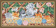 ArtSolo VKA 3122 Котята на террасе, схема под бисер