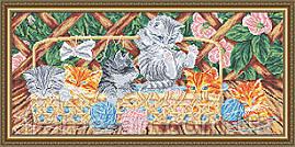 ArtSolo VKA 3122 Кошенята на терасі, схема під бісер