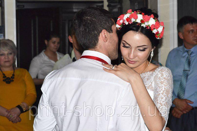 Свадебный обруч на голову. Ободок для волос с латексных роз. Украшение для волос.