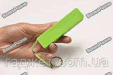Мини аккумулятор Power Bank 2600 mAh - повербанк салатового цвета. Внешняя батарея Mobile Power Bank, фото 2