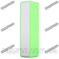 Мини аккумулятор Power Bank 2600 mAh - повербанк салатового цвета. Внешняя батарея Mobile Power Bank, фото 3