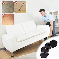 4 штук Мебель Передвижные ползунки Коврики для переноски Перемещение мебели Планеры Пластиковые напольные покрытия для пола Ковровое покрыт