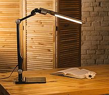 Светодиодная настольная LED лампа, чёрная