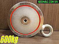 ♕Доставка и ТРОС в подарок♕ Двухсторонний поисковый магнит РЕДМАГ F600*2, ✔сила 600кг