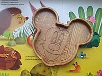 Детская деревянная тарелочка в виде Микки