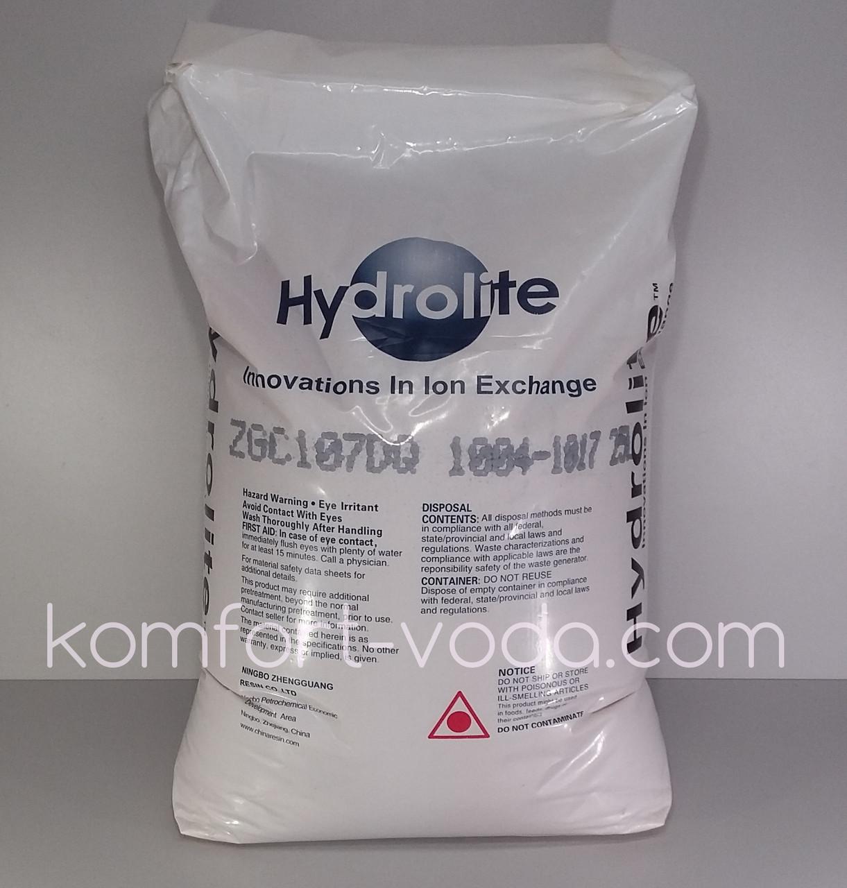 Ионообменная смола для умягчения воды Hydrolite ZGC107 (25 л)
