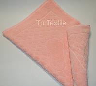 Рушник-килимок для ніг 720 гр/м2 Бавовна 100% Персиковий