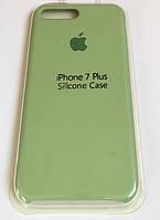 Силиконовый чехол на iPhone 7 Plus/8 Plus Фисташка. Silicon case  Apple iphone 7+/8+