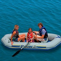 Надувная трехместная лодка Intex 68377 Seahawk II (297х127х46 см)