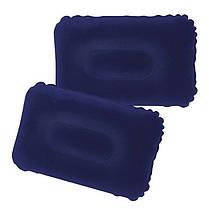 Двоспальний велюровий надувний матрац Bestway 67374 ручний насос і 2 подушки, фото 3