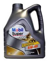 Моторное синтетическое масло для дизельных и бензиновых двигателей Mobil super 3000 5w40 4l