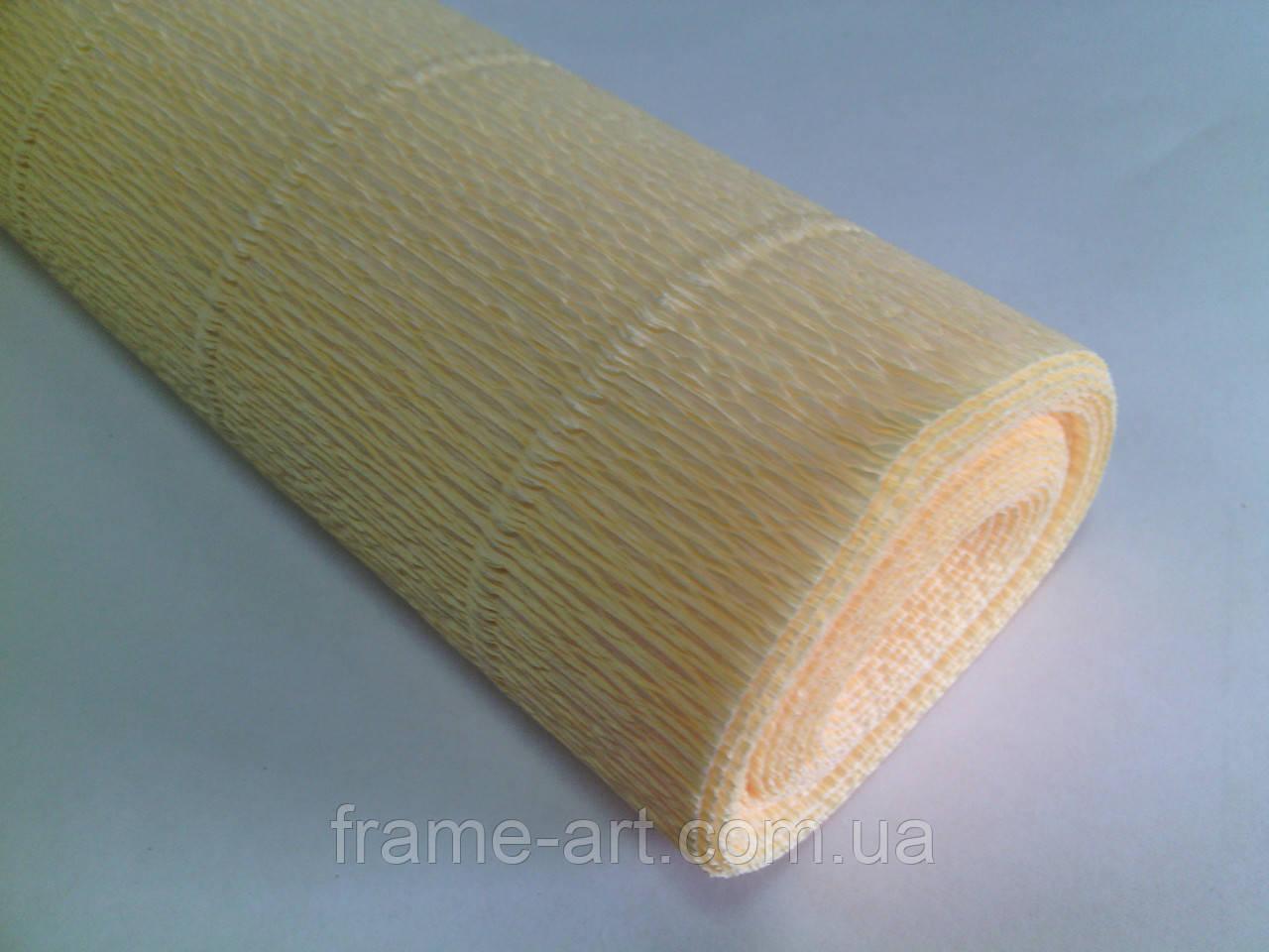 Креп-бумага Италия 50см*2,5м 180г/м2 577 светло-желтый 074