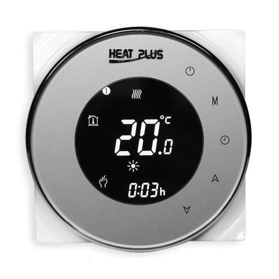 Сенсорний програмований терморегулятор Heat Plus BHT-5000 Silver