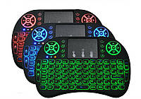 Клавиатура мини i8 LED (с подсветкой) беспроводная для Android, Smart TV, PC