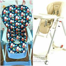 Односторонние чехлы на детские стульчики PegPerego Prima Pappa