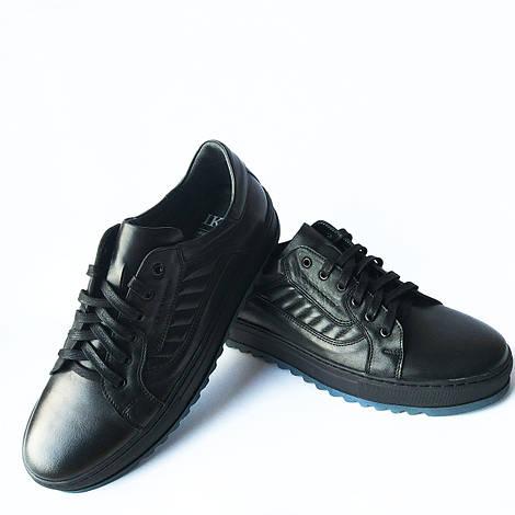 Качественная мужская обувь Ікос : кожаные туфли, черного цвета, ортопедические, повседневные
