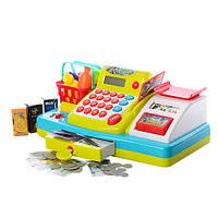 Кассовый аппарат (весы, калькулятор, продукты, тележка) звуковые и световые эффекты