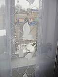 Панельні шторки білі квіти до підлоги, фото 2